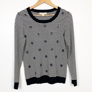 Banana Republic Sweater Black & White Stripe